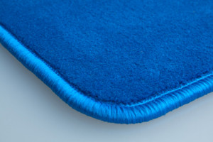 Tapis Vw Touran (fixations Ovales Nr13) – Velours Bleu Clair