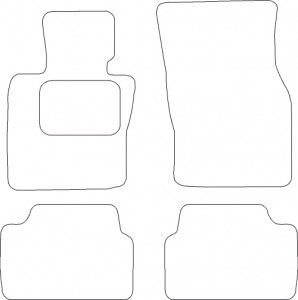 Tapis Mini 5 portes depuis 09/2014 – Velours Noir