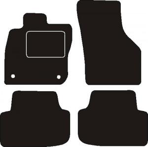 Tapis Seat Leon depuis juin 2020 – Velours Noir