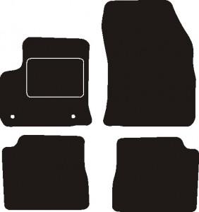 Tapis Peugeot E-2008 depuis 04/2020 – Velours Noir